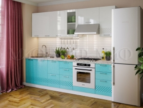 Кухонный гарнитур Волна (бирюза)