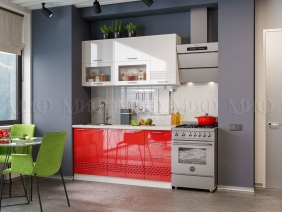 Кухонный гарнитур Волна (красный)