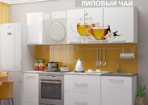 Кухня с фотопечатью 1,8 м стекло (рифленое)