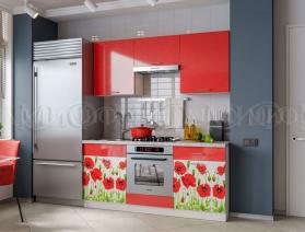 """Кухонный гарнитур """"Красные маки"""""""