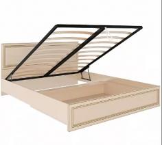 """Кровать """"Беатрис"""" М11 1,6 с подъемн. мех.  и мягкой спинкой"""