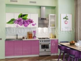 Кухня с фотопечатью 2,0 м стекло (рифленое)