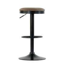 Барный стул Barneo N-129 Green / Black / FPU коричневая кожа