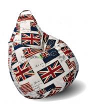 Кресло-мешок груша Стандарт «Британский флаг»