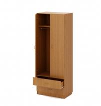 Шкаф распашной комбинированный 2-х створчатый