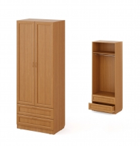 """Шкаф распашной комбинированный 2-х """"Рамочный"""""""