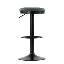 Барный стул Barneo N-129 Green / Black / FPU зеленая кожа