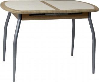 Стол с плиткой Будапешт-1 new (хром-лак)