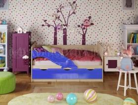 Кровать ПВХ Дельфин, Дельфин-1,Бабочки 1,8 м