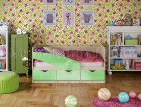 Кровать ПВХ Дельфин, Дельфин-1,Бабочки 2,0 м
