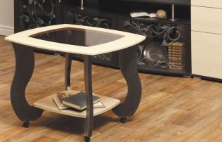 """Журнальный столик """"Сатурн-М01"""" со стеклом и рисунком"""