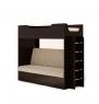 Кровать двухъярусная с диваном