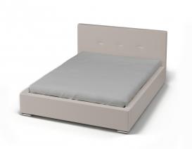 Кровать с мягким изголовьем 1600