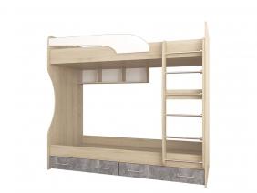 Кровать двойная Лофт Детская Колибри