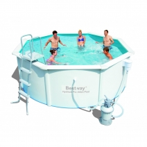 """56377 BW"" Стальной бассейн ""Hydrium Splasher Pool Set"" 360х90 см, 8648 л с фил.-насос 2006л/ч и лест."
