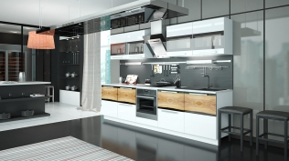 Угловая кухня «Фэнтези» (Вуд)
