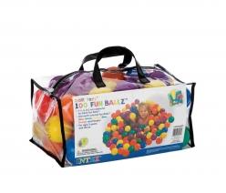 49602, Intex, Пластиковые мячи 6,5см, 100шт для игровых центров, от 2 лет