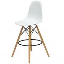 Барный стул Barneo N-11 LongMold Eames style белый
