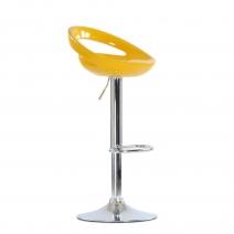 Барный стул Barneo N-6 Disco желтый глянец