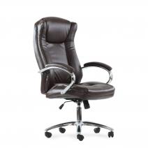 Кресло Barneo K-45 для руководителя коричневая кожа, газлифт 3кл, PU-R57