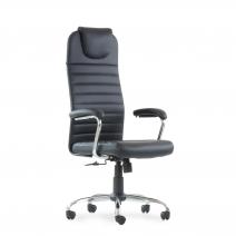 Кресло Barneo K-117 для персонала черная кожа