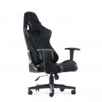 Кресло Barneo K-50 черная сетка черные вставки, газлифт 3кл, реклайнер, игровое