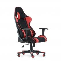 Кресло Barneo K-50 черная сетка красные вставки,игровое