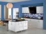 """Кухонный фартук """" Море цветов (синее) """""""