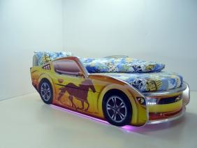 """Кровать детская """"Мустанг Премиум"""" с подсветкой"""
