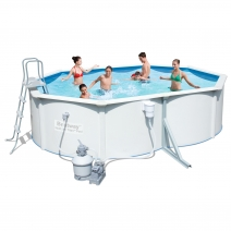 """56386 BW"" Стальной бассейн ""Hydrium Splasher Pool Set"" 460х90 см, 14110 л с фил.-насос 2006л/ч и лест."