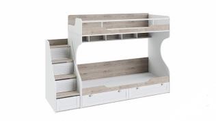 Кровать двухъярусная с приставной лестницей «Ривьера» СМ 241.11.12