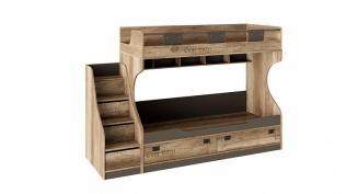 Кровать двухъярусная с приставной лестницей «Пилигрим» СМ-276.11.01