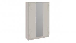 Шкаф комбинированный «Мишель» Ясень шимо/Бежевый фон глянец с рисунком