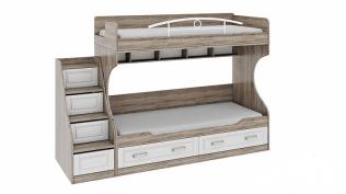 Двухъярусная кровать с лестницей с ящиками «Прованс» СМ-223.11.001