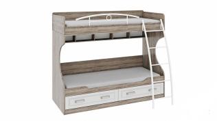 Кровать двухъярусная с металлической лестницей «Прованс» СМ-223.11.002
