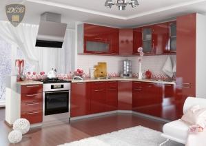 Угловая кухня «Олива» Гранат