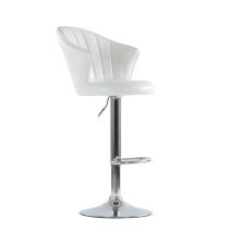 Барный стул Barneo N-31 Лидер белый глянец