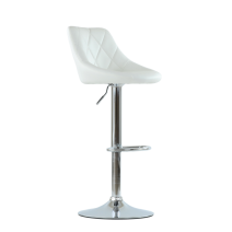 Барный стул Barneo N-83 белая кожа