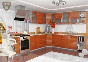 Угловая кухня «Олива» Оранж
