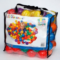 49600, Intex, Пластиковые мячи 8см, 100шт для игровых центров