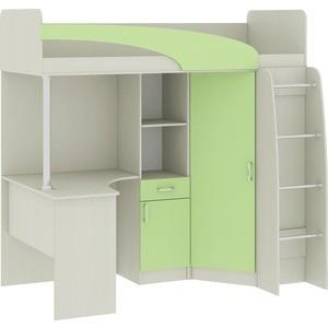 """Кровать-чердак со столом """"Карамель 77-01"""" Зеленый"""