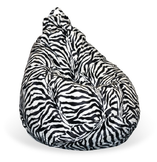 Кресло-мешок груша Стандарт «Зебра»